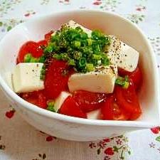 トマトと豆腐のさっぱりサラダ♪