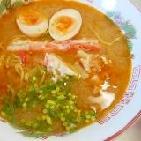蟹殻でスープ☆蟹味噌ラーメン☆