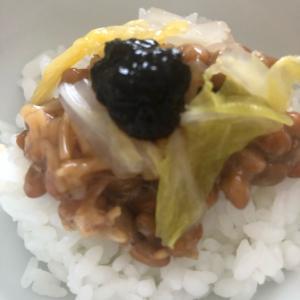 納豆*白菜の浅漬け*海苔の佃煮ごはん