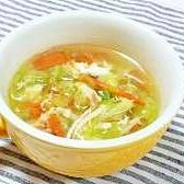 温まるね(^O^)簡単野菜スープ♪