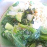 つるむらさきと大根ときゅうりポン酢サラダ