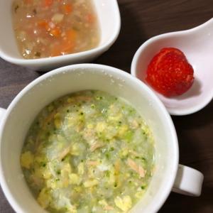 ブロッコリー、鮭、卵のお粥【離乳食】