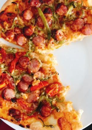 発酵なしでピザ生地簡単!手作りピザ♩