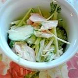 簡単!美味しい水菜ときゅうりの塩レモンサラダ♪