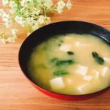 豆腐*ほうれん草の味噌汁✧˖°