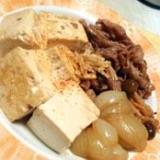 甘辛たれが美味しい!肉豆腐!