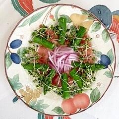 アスパラと生ハムのサラダ