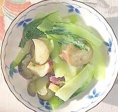 茄子とチンゲン菜の酢味噌和え