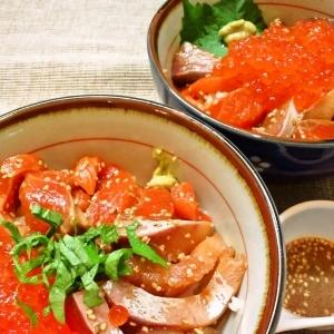 至高の漬け丼☆海鮮丼は簡単漬けダレで食すべし☆