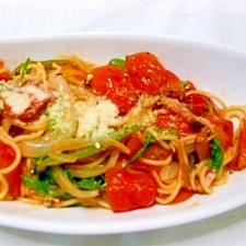 トマトたっぷり、スバゲティナポリタ~ン♪