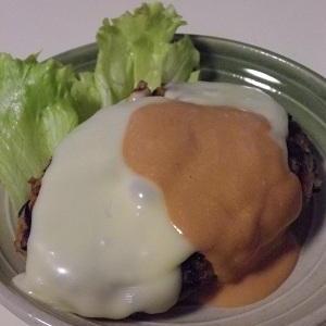 余ったひじきの煮物入りのハンバーグ