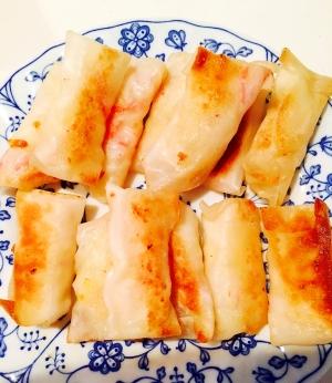 幼児食☆ポテトとカニカマとチーズの餃子