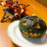 ハロウィンの丸ごとかぼちゃプリン♡