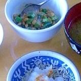 子供の作る和食の一品、オクラ納豆