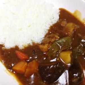 茄子と万願寺唐辛子の夏野菜カレー