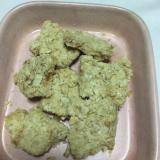甘いオートミールのおからクッキー