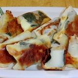 リメイクで簡単おいしく、海苔チーズ巻きお餅