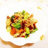 柚子&味噌風味♪小松菜と人参の豚肉炒め