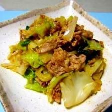 手近な材料でササッと豚肉とキャベツの味噌炒め