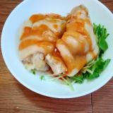 手作り酢味噌で♪水菜と豚足♪コラーゲンたっぷり♪