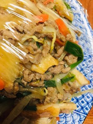 簡単!中華風肉野菜炒め