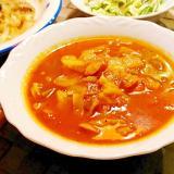 きゃべつとウインナーのハーブトマトスープ