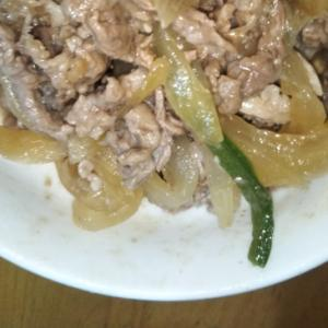 牛肉、豚肉、野菜の焼肉炒め