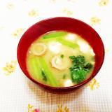 小松菜と豆腐のお味噌汁