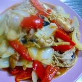 ❤ 豚肉&玉ねぎ&ピーマン&キノコのソース炒め ❤