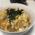 油揚げがジューシー♫ 卵どんぶり