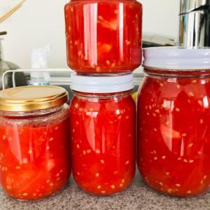 自家製トマトの水煮★保存に