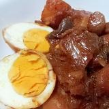 豚キムチと茄子とじゃが芋の煮物