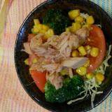 ツナとブロッコリーのお手軽サラダ(^o^)