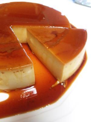 ケーキ型で焼くカスタードプリン(紅茶味にも)