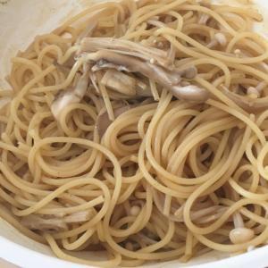 カレー風味のきのこパスタ☆