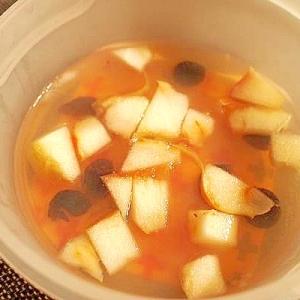 ヒアルロン酸水と林檎♪ブルベリーで♪美的寒天
