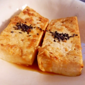 焼き肉のタレで味付け☆ 焼き豆腐