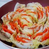 白菜・人参・豚肉のミルフィーユ鍋