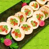 減塩☆カラフル野菜の鶏ささみロール