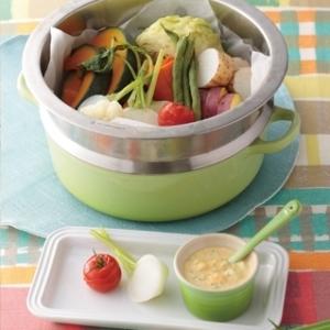 [ル・クルーゼ公式] ゴロゴロ蒸し野菜とディップ