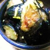 白味噌で茄子の炒め煮***