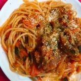 ズッキーニとトマトのスパゲティ