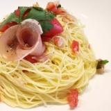トマトと生ハムの冷たいカッペリーニ