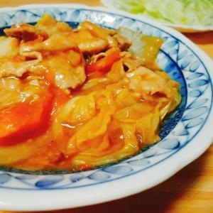 豚肉と白菜とトマトのマーボー風とろみあん