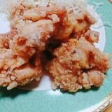 胸肉の生姜とニンニク風味の唐揚げ