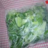 生のままで!チンゲン菜(青梗菜)の冷凍保存方法