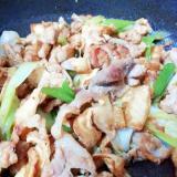 【簡単】豚肉&白ネギ&うす揚げのオイスター炒め