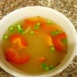 アルファルファとパプリカのグリーンカレースープ