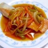 ☆甘酢あんで♪ 鮭の野菜あんかけ☆
