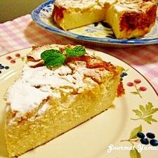 手間も カロリーも OFF♪りんごのチーズケーキ